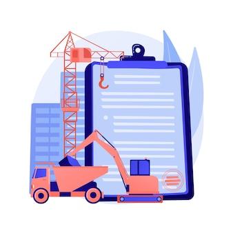 Concepto abstracto de licencia de la industria de la construcción