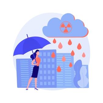 Concepto abstracto de lluvia ácida