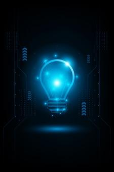 Concepto abstracto luz futurista