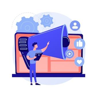 Concepto abstracto de marketing online