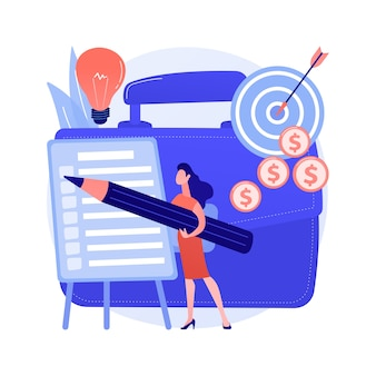 Concepto abstracto de planificación de proyectos