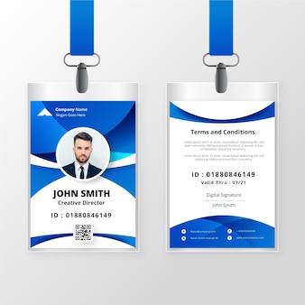 Concepto abstracto de plantilla de tarjetas de identificación