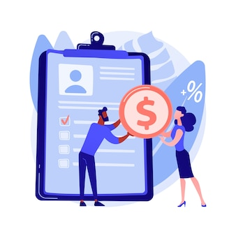 Concepto abstracto de préstamos de dinero
