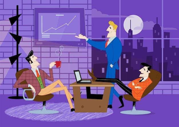 Concepto abstracto de puesta en marcha y comunicación de negocios