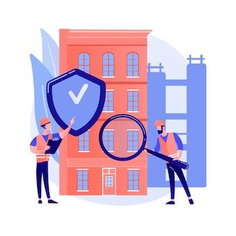Concepto abstracto de seguridad del edificio