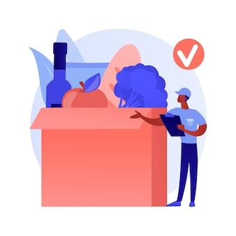 Concepto abstracto de servicio de suscripción de caja