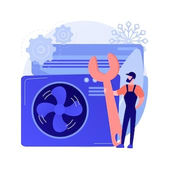 Concepto abstracto de servicios de aire acondicionado y refrigeración