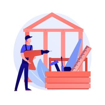 Concepto abstracto de servicios de carpintero