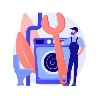 Concepto abstracto de servicios de fontanero