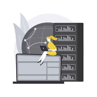Concepto abstracto de servidor proxy