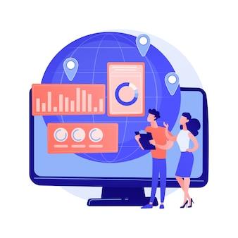 Concepto abstracto de soporte al cliente