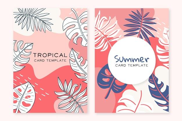 Concepto abstracto de tarjetas tropicales