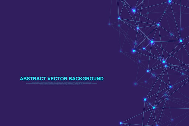Concepto abstracto de tecnología de conexión de redes.