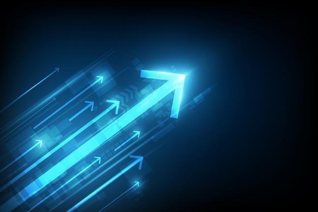 Concepto abstracto de la tecnología de la velocidad. fondo de ilustración vectorial