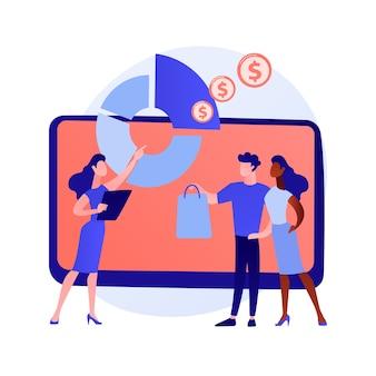 Concepto abstracto de venta consultiva