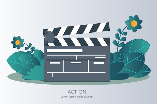 Concepto de acción para empresas