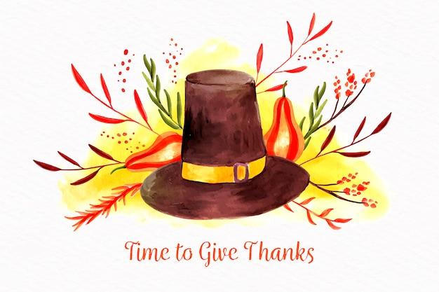 Concepto de acción de gracias en acuarela