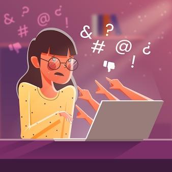 Concepto de acoso cibernético