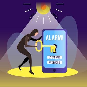 Concepto de actividad hacker ilustrado
