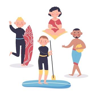Concepto de actividades al aire libre de verano