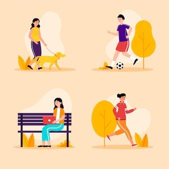 Concepto de actividades al aire libre