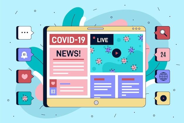 Concepto de actualización de coronavirus