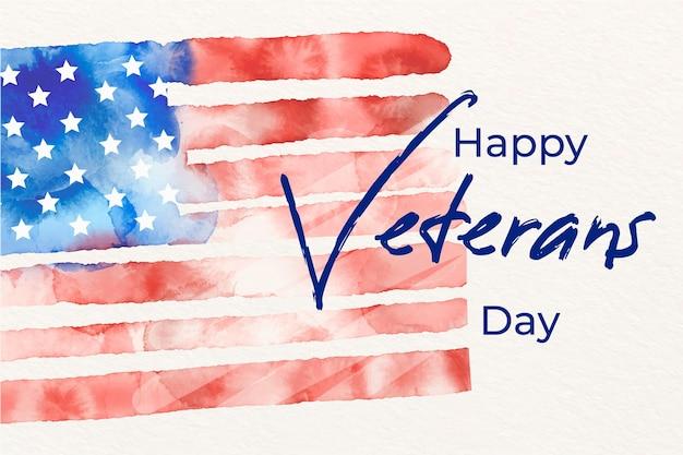 Concepto de acuarela del día de los veteranos