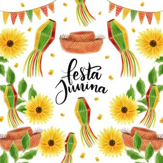 Concepto de acuarela festa junina