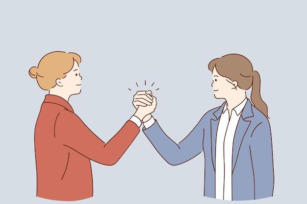Concepto de acuerdo de asociación empresarial de apretón de manos