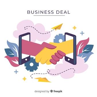 Concepto de acuerdo de negocios dibujado a mano