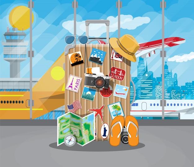 Concepto de aeropuerto internacional.