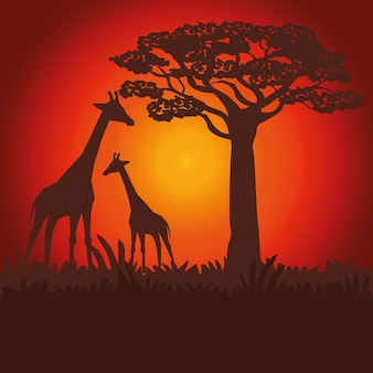 Concepto de áfrica con diseño de icono
