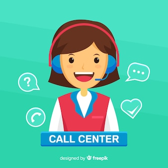 Concepto de agente femenino de call center