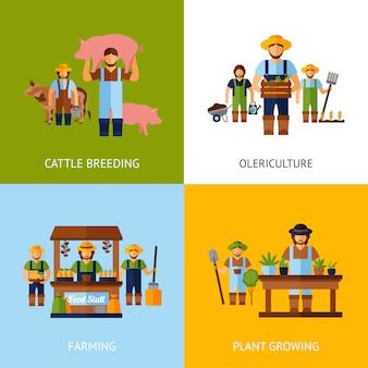 Concepto de los agricultores