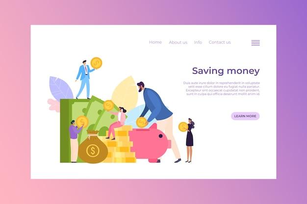 Concepto de ahorro de dinero de finanzas