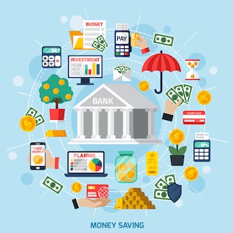 Concepto de ahorro de dinero
