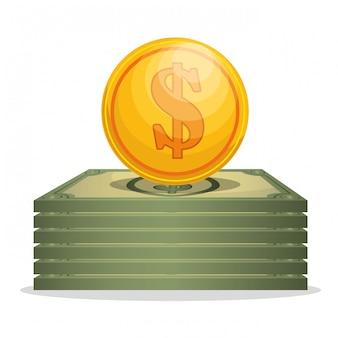 Concepto de ahorro y dinero
