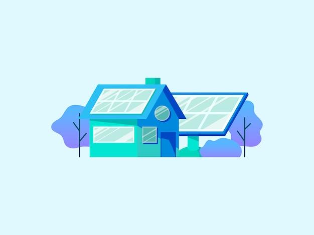 Concepto de ahorro de energía con paneles solares.