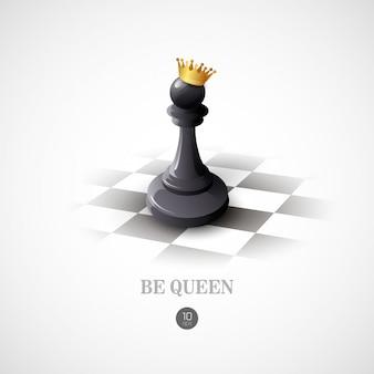 Concepto de ajedrez ganador. antecedentes