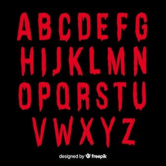 Concepto de alfabeto de halloween