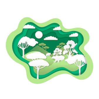Concepto ambiental con bosque