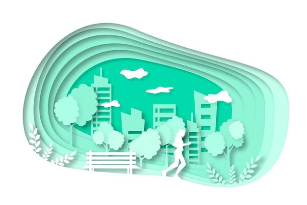 Concepto ambiental en papel
