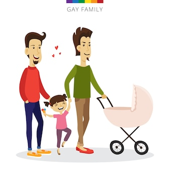 Concepto de amor de pareja gay de vector