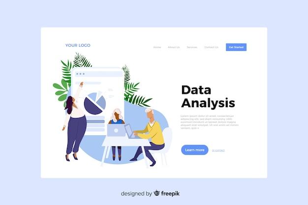 Concepto de análisis de datos para la página de destino