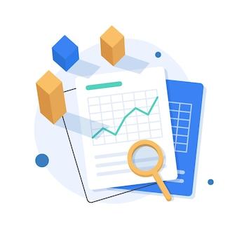 Concepto de análisis de inversiones, planificación financiera, concepto de análisis de datos