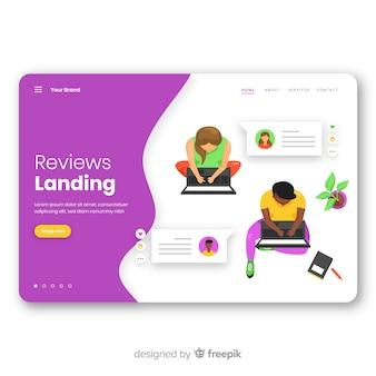 Concepto de análisis para landing page
