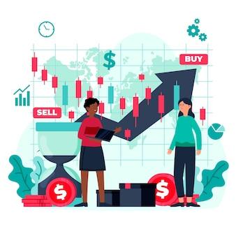 Concepto de análisis del mercado de valores