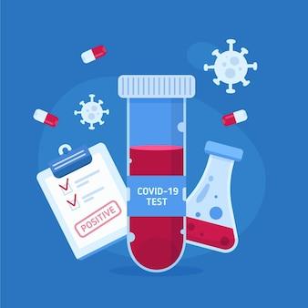 Concepto de análisis de sangre de coronavirus