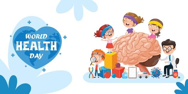 Concepto de anatomía y creatividad del cerebro