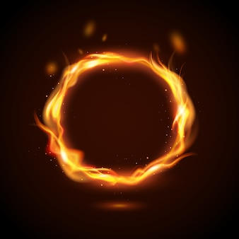 Concepto de anillo de fuego realista